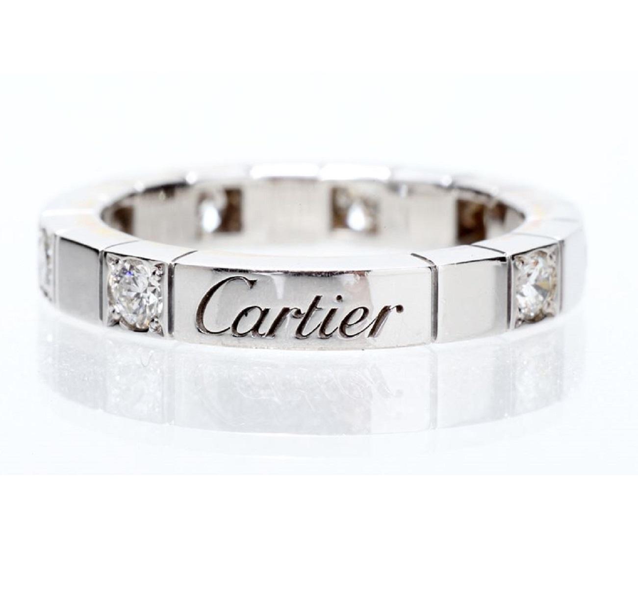 Cartier カルティエ ラニエール ハーフダイア #46 750WG ホワイトゴールド 送料無料 【トレジャースポット】【中古】