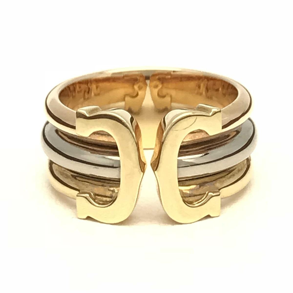Cartier カルティエ 2Cリング 指輪 #48 750スリーカラー 【トレジャースポット】【中古】