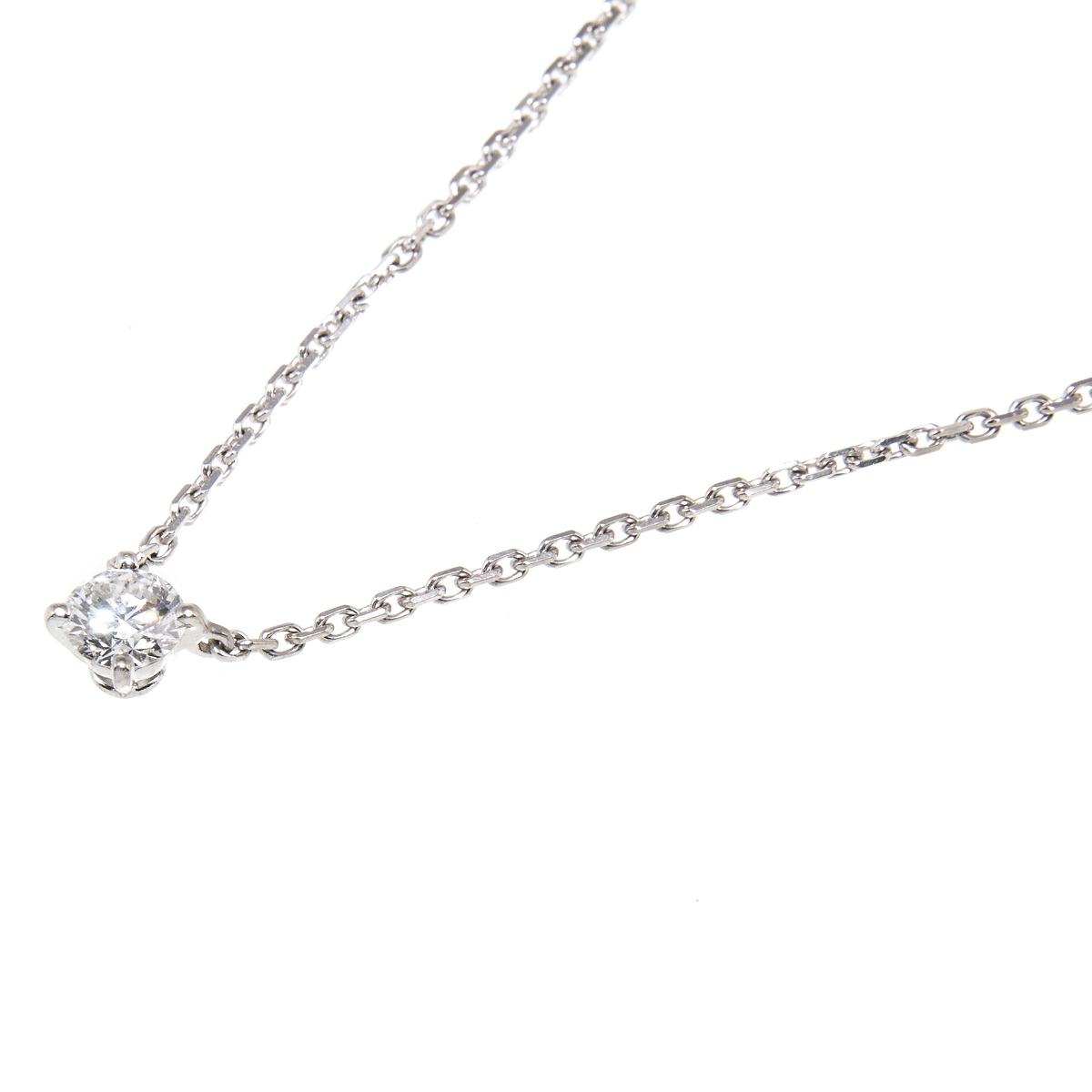カルティエ Cartier ダイアネックレス ダイアモンド ホワイトゴールド 750 チェーン約49cm 送料無料 【トレジャースポット】【中古】