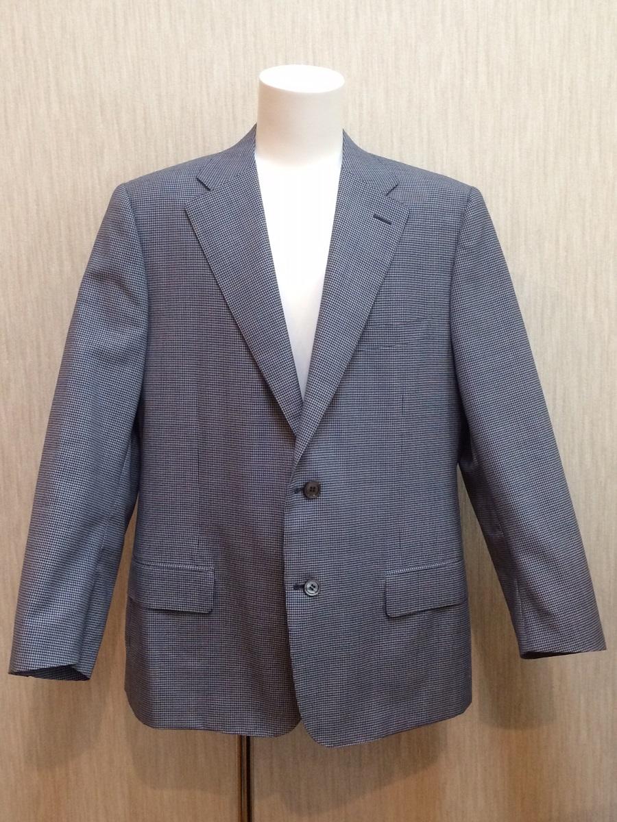 カナーリ CANALI ジャケット ブレザー チェック柄 ブルー系 ウール100% メンズ #54(XL)【トレジャースポット】【中古】