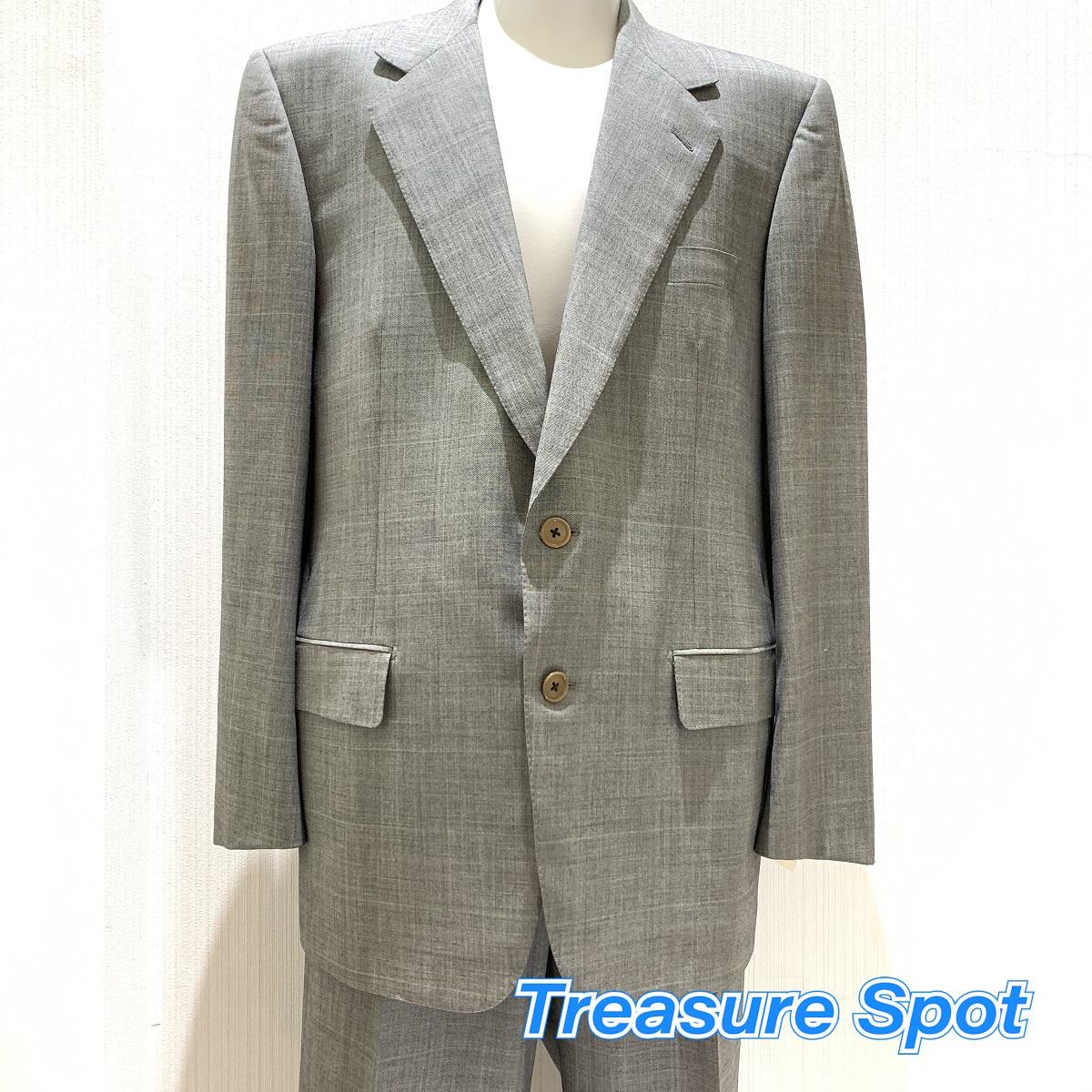 ベルベスト Belvest スーツ グレー ウール ジャケット パンツ #50 6C 新品同様品 【トレジャースポット】【中古】