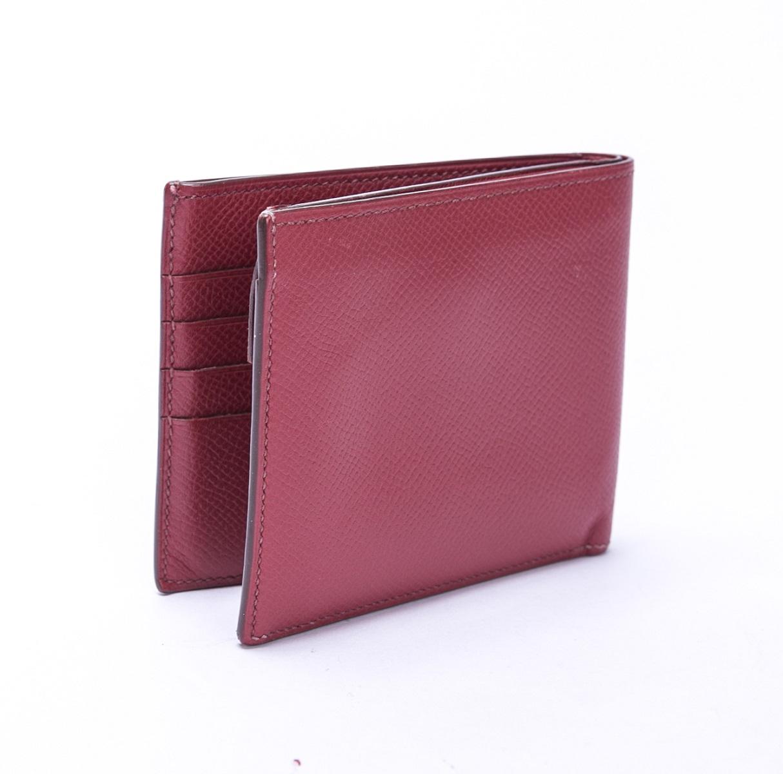 HERMES エルメス ガリレイ 二つ折財布 エプソン レッド 赤 L刻印 【トレジャースポット】【中古】