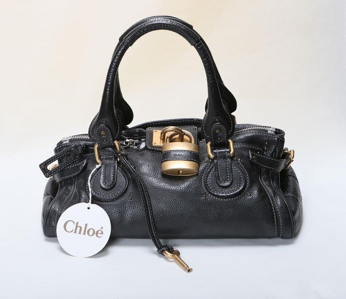 クロエ Chloe パディントン ハンドバッグ トートバッグ ブラック 黒 【トレジャースポット】【中古】