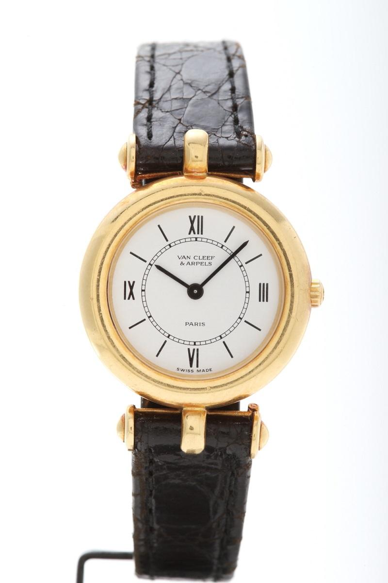 ヴァンクリーフ&アーペル YG 腕時計 替えベルト2本付き VCA QQ1 送料無料 【トレジャースポット】【中古】