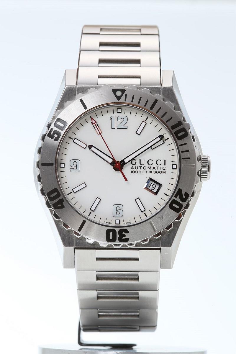 グッチ GUCCI パンテオンダイバーズウォッチ 300m防水 メンズ 腕時計 YA115.2122 【トレジャースポット】【中古】