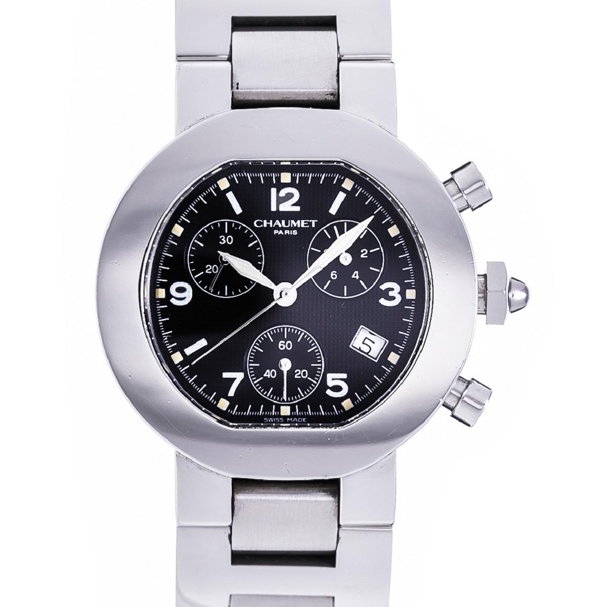 CHAUMET ショーメ レディース 腕時計 クロノグラフ SS ステンレス Qz クォーツ 送料無料 【トレジャースポット】【中古】