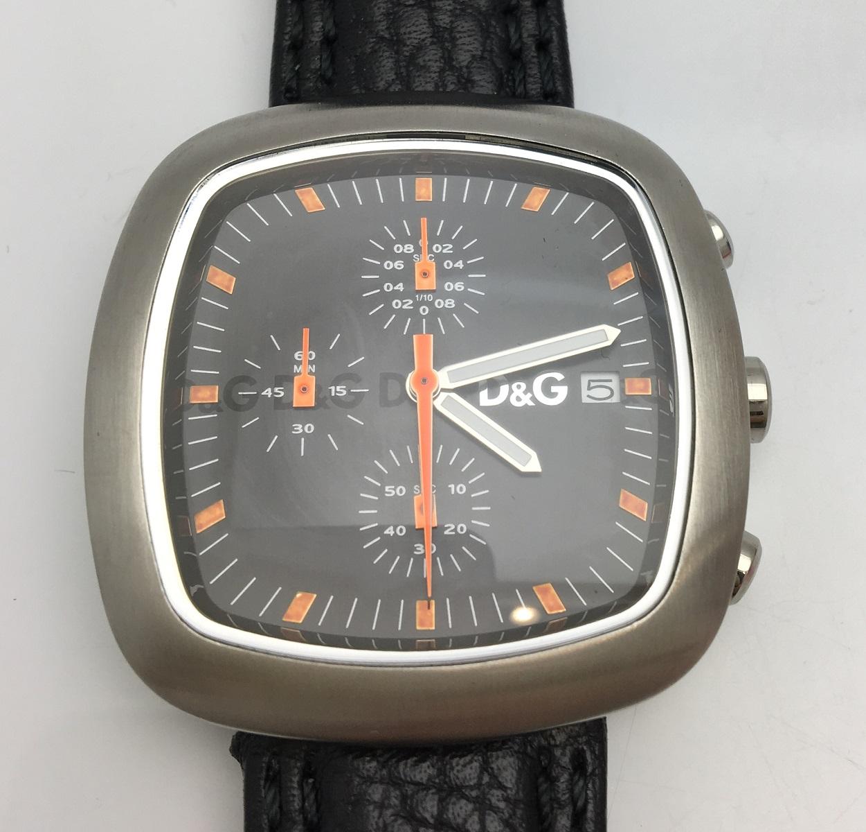 D&G ドルチェ&ガッバーナ TIME 腕時計 SS ステンレス Qz クォーツ メンズ 【トレジャースポット】【中古】