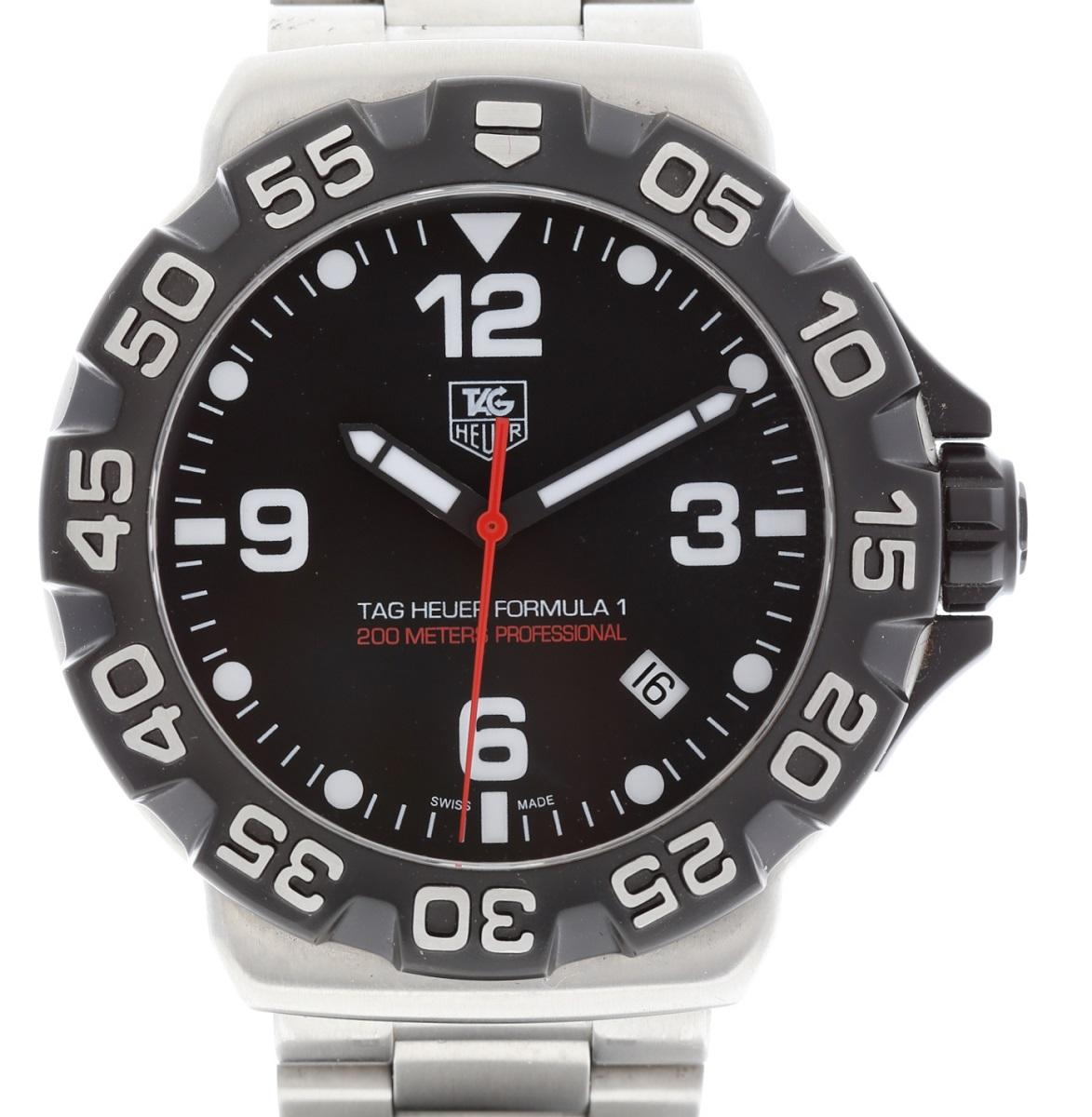 タグホイヤー TAG HEUAR フォーミュラ1 メンズ 腕時計 200m防水 クォーツ 専用箱 保証書【中古】【トレジャースポット】