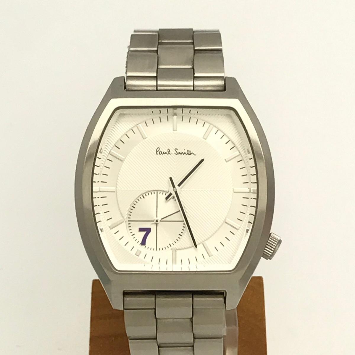 ポールスミス Paul Smith BB5-517-93 メンズ 腕時計 シルバー文字盤 ギャラクシーセブン No.7 SS ステンレス Qz クォーツ 【トレジャースポット】【中古】