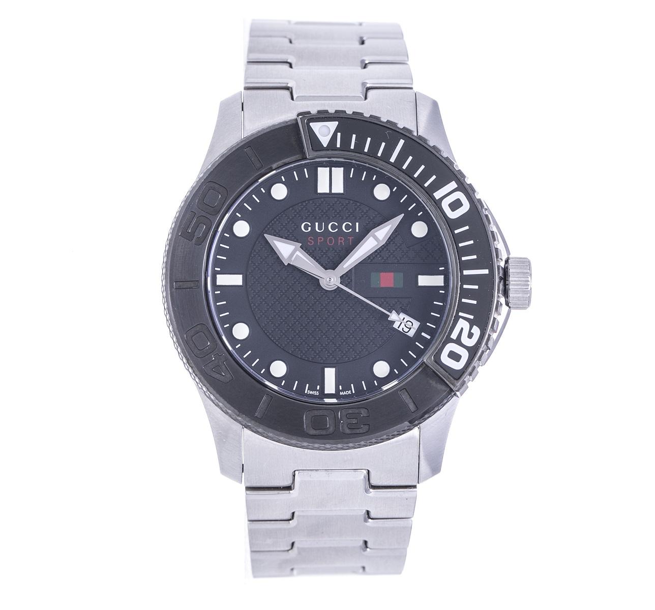 GUCCI グッチ Gタイムレス 126.2 SS ステンレス Qz クォーツ メンズ 腕時計【トレジャースポット】【中古】