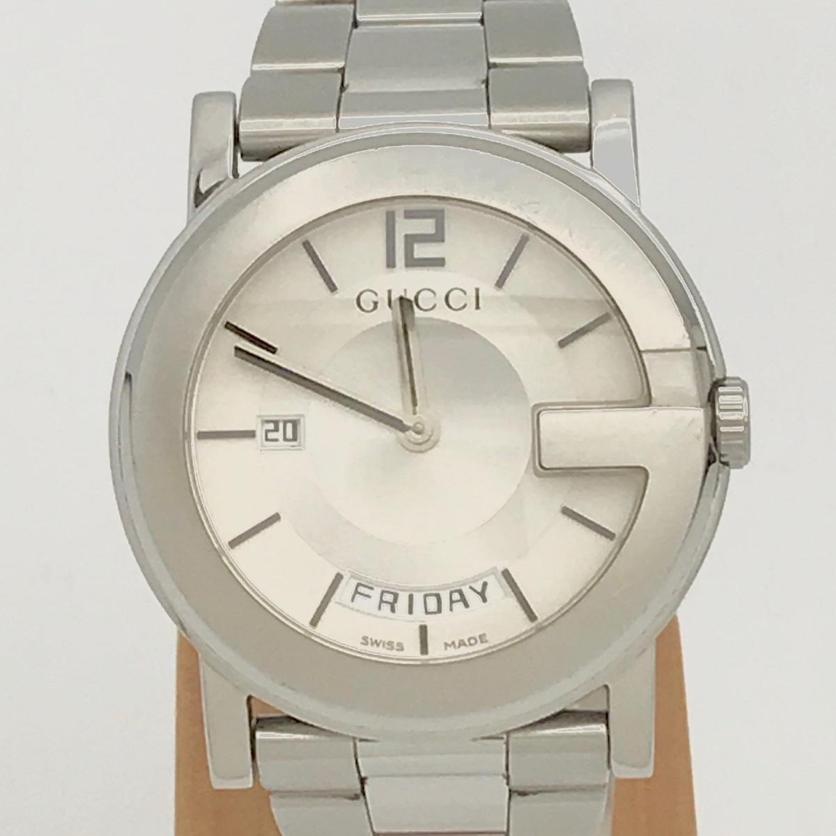 GUCCI グッチ 101M メンズ 腕時計 QZ ステンレス SS クォーツ 【トレジャースポット】【中古】