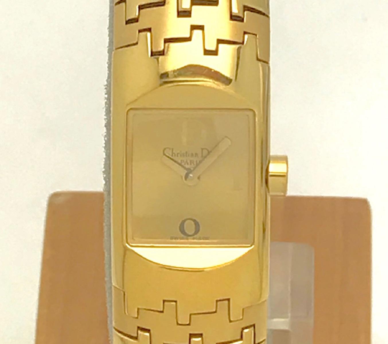C.Dior クリスチャン ディオール レディース ウォッチ 腕時計 Qz クォーツ GP 【トレジャースポット】【中古】