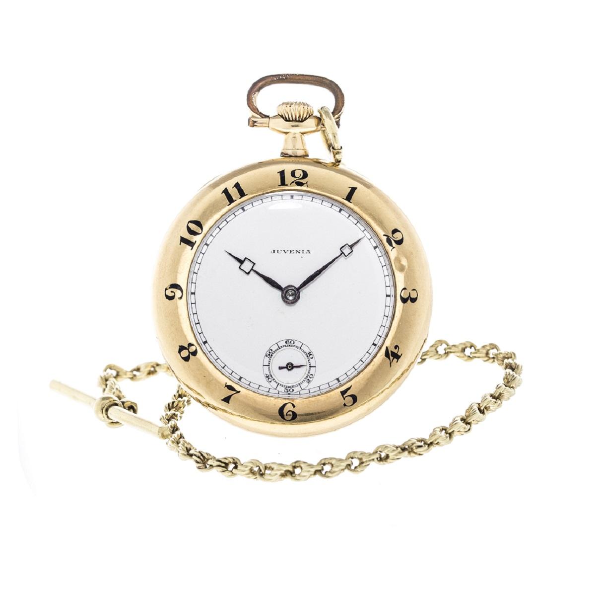 JUVENIA ジュベニア 懐中時計 アンティーク Antique YG 送料無料 【トレジャースポット】【中古】