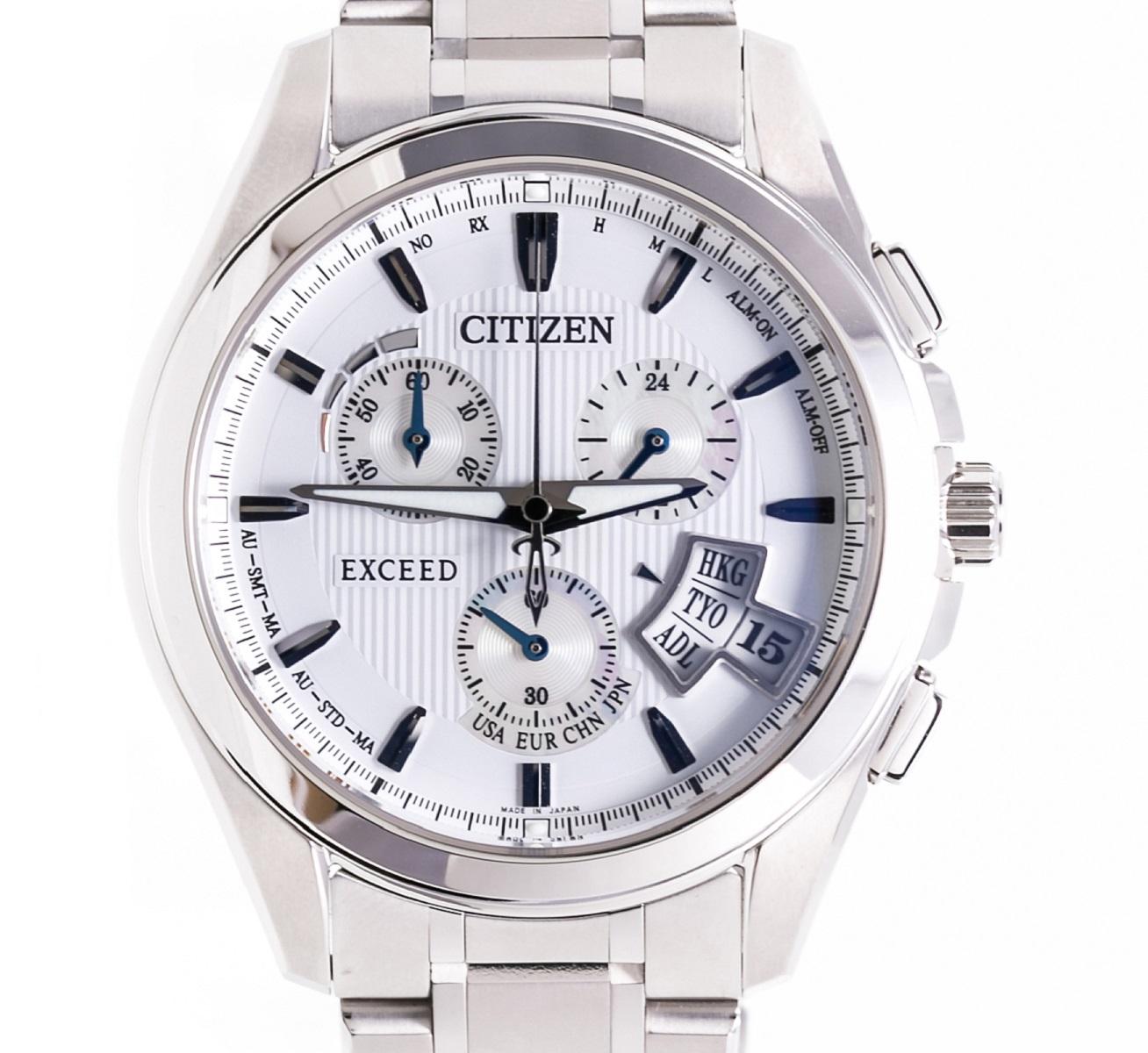 CITIZEN シチズン エクシードエコドライブ EBS74-5101  ソーラークォーツ 保証書 専用箱 2010年 メンズ 腕時計【中古】【トレジャースポット】