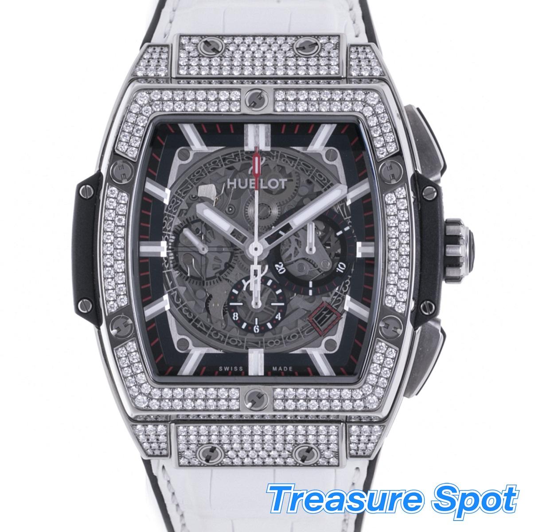 ウブロ HUBLOT スピリット オブ ビッグバン チタニウム ダイヤモンド Ti  601.NX.0173.LR.1704 メンズ 腕時計 送料無料 【トレジャースポット】【新品同様品】