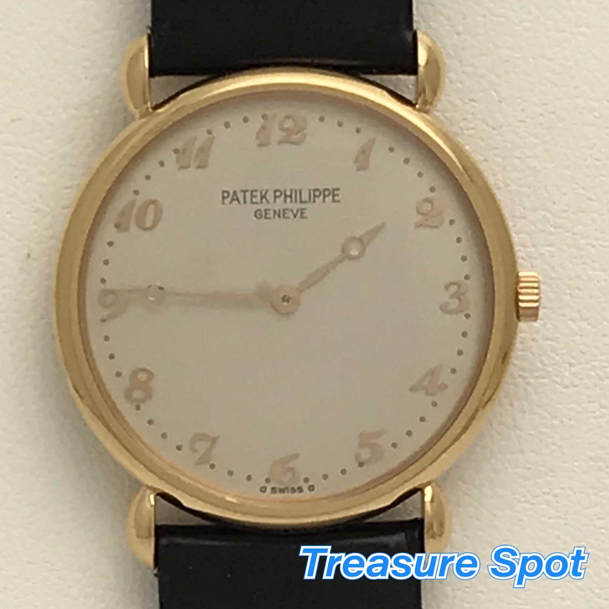 PATEK PHILPPE パテックフィリップ 3820R-001 カラトラバ ローズゴールド RG メンズ 腕時計 送料無料 【トレジャースポット】【中古】