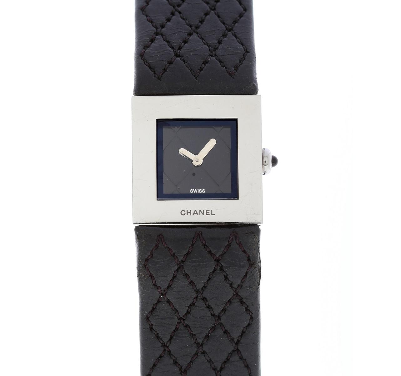 シャネル CHANEL マトラッセ クォーツ 腕時計 Qz 専用箱 レディース SS 送料無料 【トレジャースポット】 【中古】