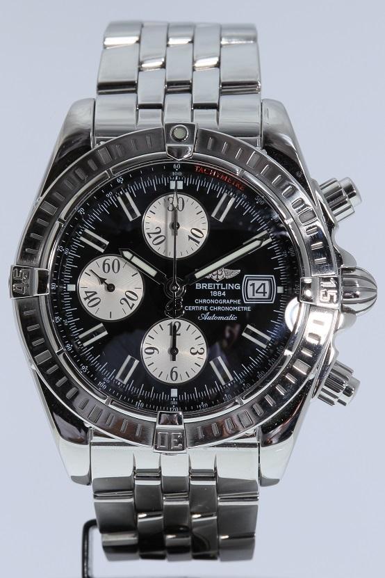 ブライトリング BREITLING クロノマットエボリューション A13356 メンズ 腕時計 黒文字盤 送料無料 【トレジャースポット】【中古】