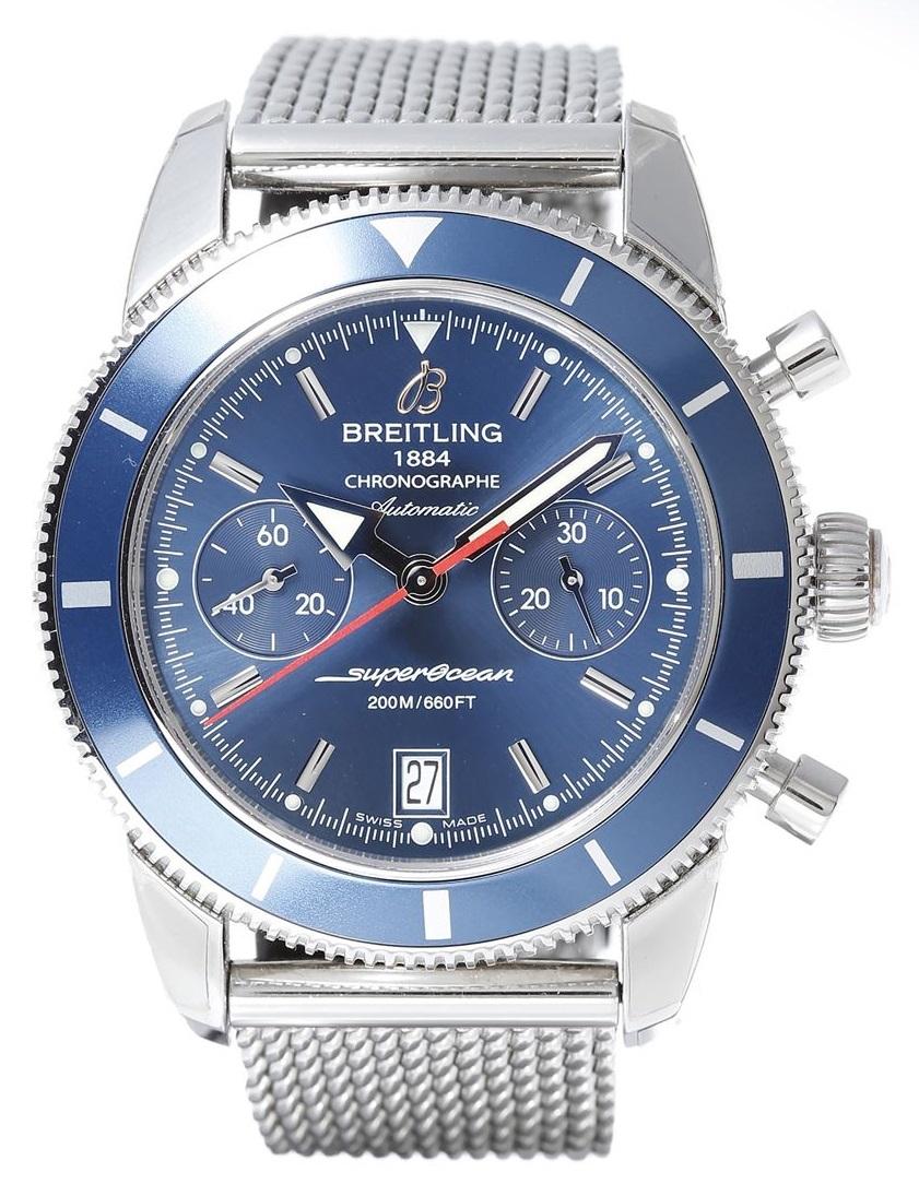 ブライトリング BREITLING スーパーオーシャンヘリテージクロノグラフ A2337016 SS ステンレス メンズ 腕時計 AT 自動巻き 送料無料 【トレジャースポット】【中古】
