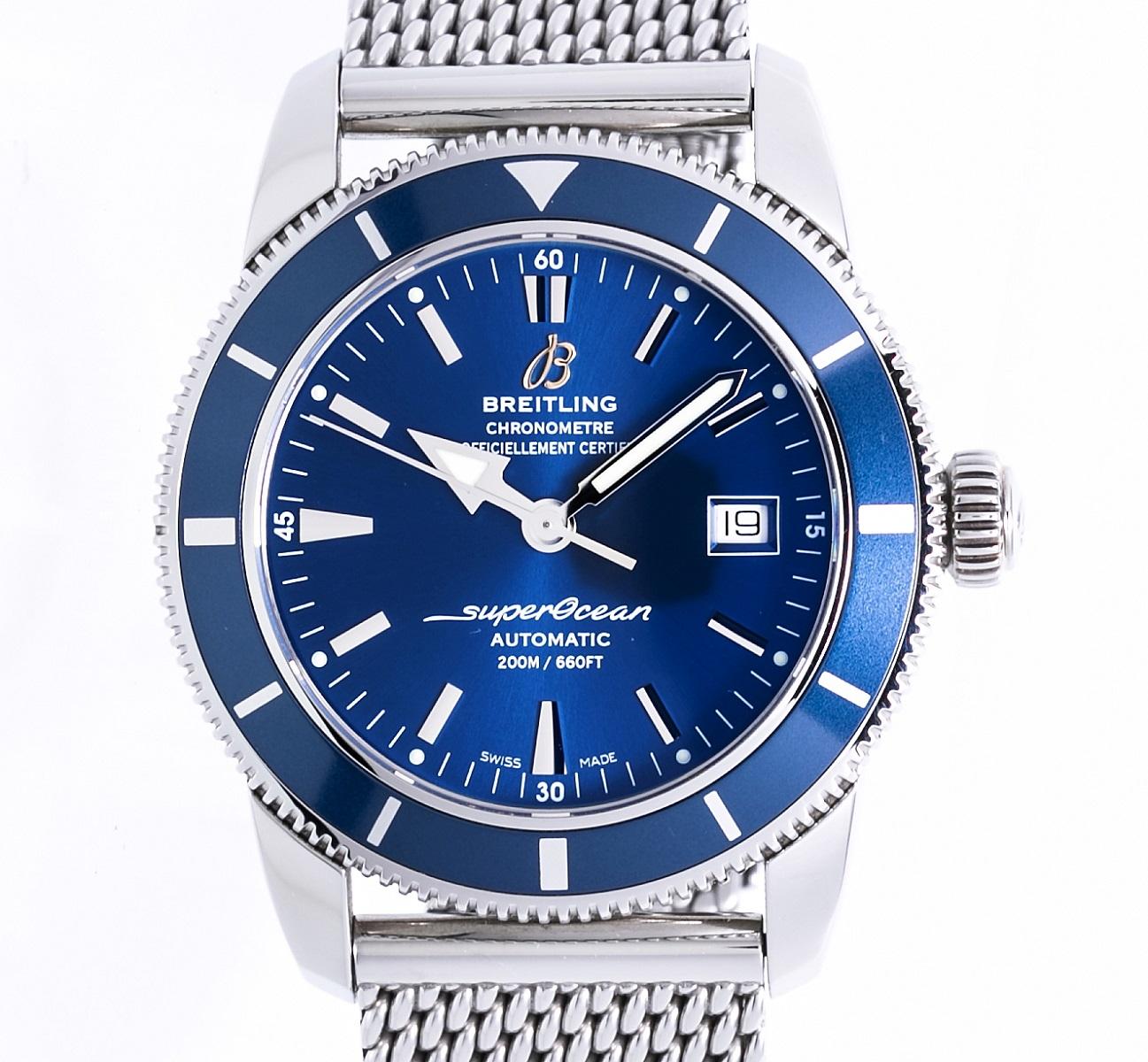 ブライトリング BREITLING スーパーオーシャンヘリテージ42 A17321 メンズ 腕時計 AT 自動巻き SS ステンレス 送料無料 【トレジャースポット】【中古】