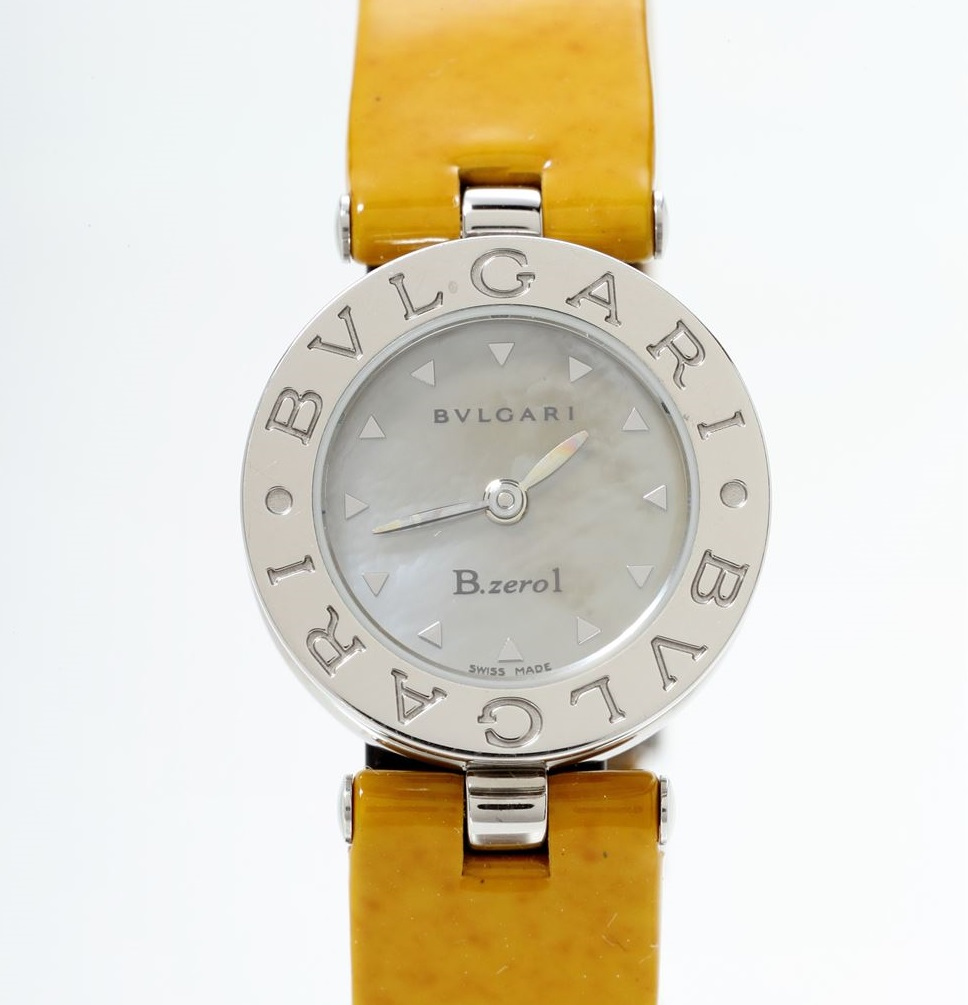 ブルガリ BVLGARI BZ22S B-zero1 クォーツ ステンレス SS イエローシェル レディース 腕時計 【トレジャースポット】【中古】