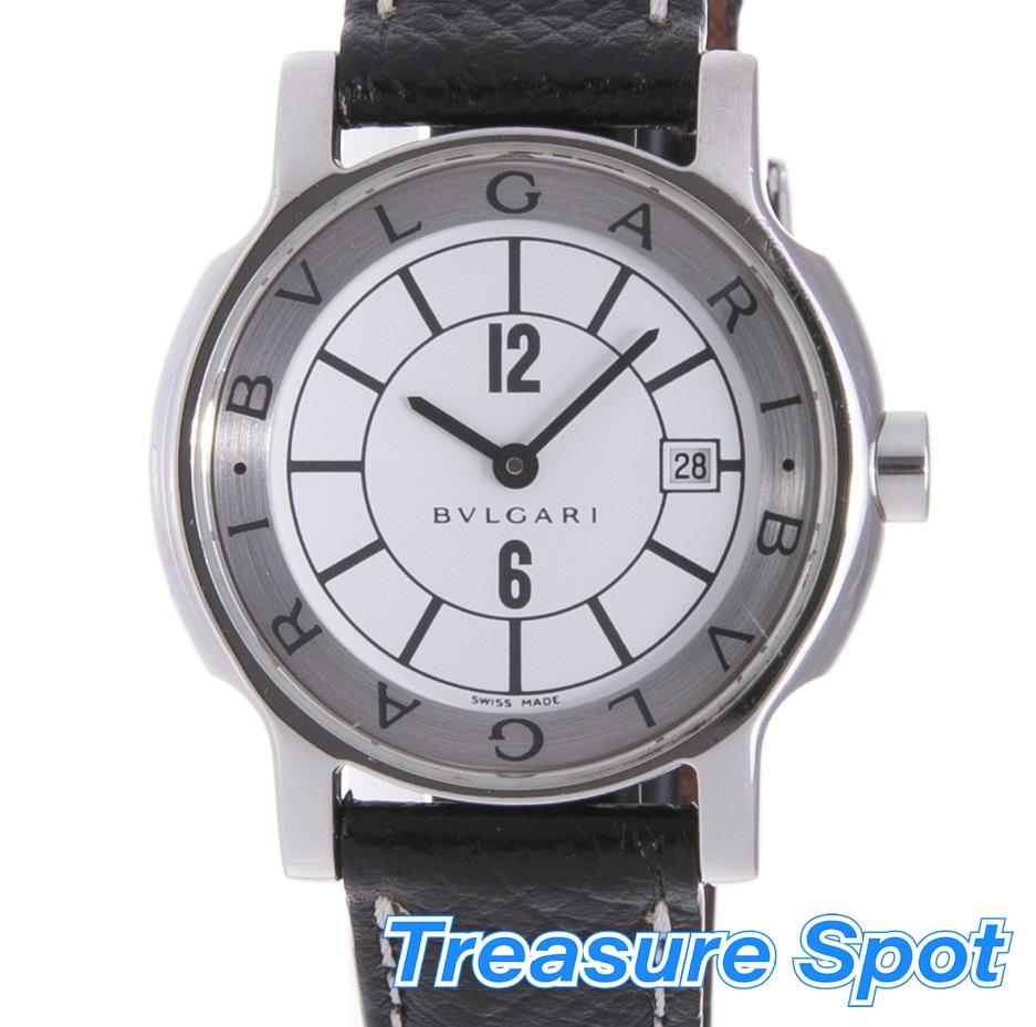 BVLGARI ブルガリ ソロテンポ ST29S ステンレス SS クォーツ QZ レディース 腕時計【トレジャースポット】【中古】