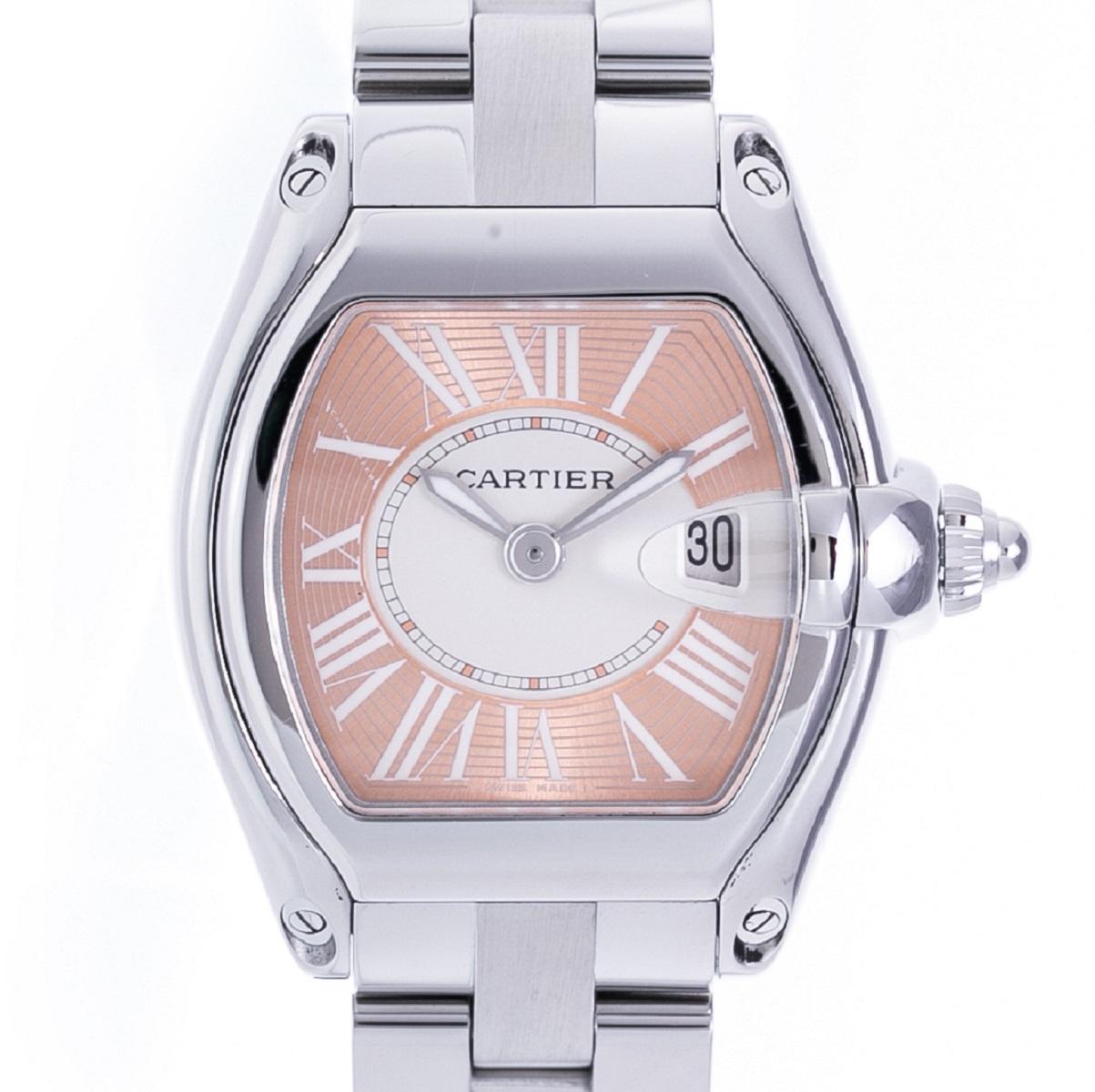 カルティエ Cartier ロードスター SS ステンレス QZ クォーツ 2007年限定品 レディース 腕時計 送料無料 【トレジャースポット】【中古】