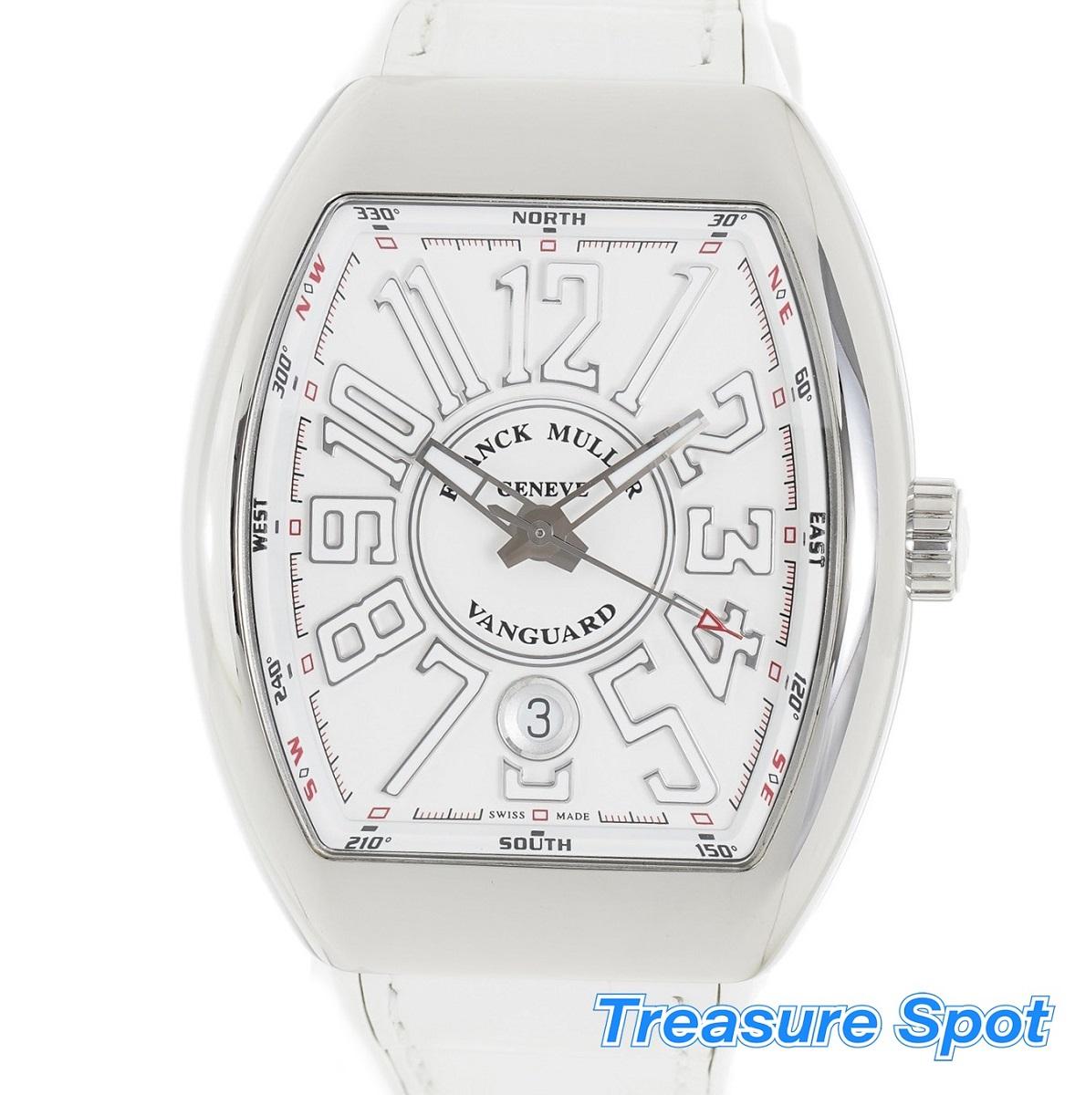 FRANCK MULLER フランクミュラー ヴァンガード V45SCDT 時計 ホワイト 白 SS AT 自動巻き メンズ 腕時計 送料無料 【トレジャースポット】【中古】