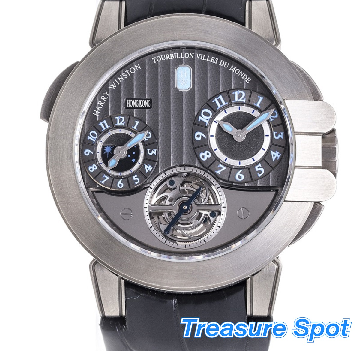 HARRY WINSTON ハリー・ウィンストン オーシャン プロジェクトZ5 GMT トゥールビヨン OCEATG45ZZ001 ザリウム 自動巻き メンズ 腕時計 送料無料 【トレジャースポット】【中古】