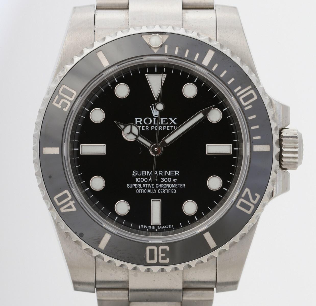 ROLEX ロレックス サブマリーナ 114060 SS ステンレス 2013年正規 日本ロレックス 新品同様品 メンズ 保証書 箱 腕時計 送料無料 【トレジャースポット】【中古】