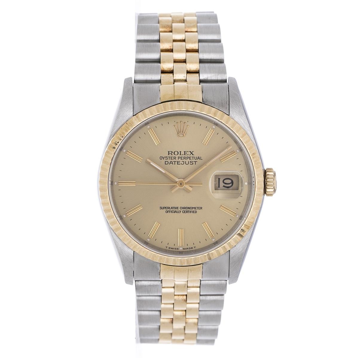 ROLEX ロレックス 16233 デイトジャスト SS/YG  メンズ E番 1990年 自動巻き  AT 腕時計 送料無料【トレジャースポット】【中古】