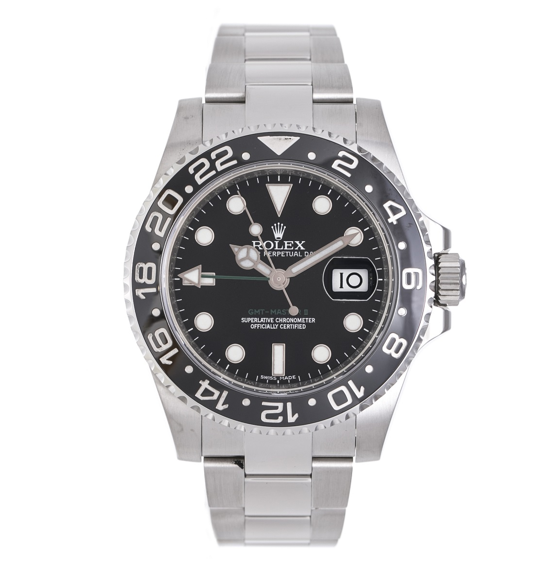 ROLEX GMTマスター2 116710LN ステンレス SS ランダム 自動巻き AT メンズ 腕時計 送料無料【トレジャースポット】【中古】