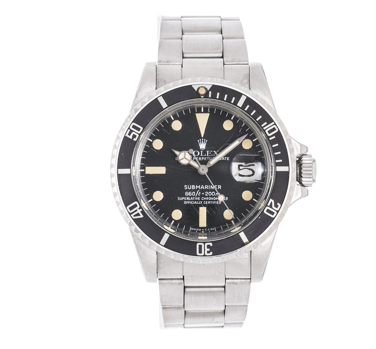 ROLEX 1680 サブマリーナデイト ステンレス 自動巻き アンティーク メンズ 腕時計 送料無料 【トレジャースポット】【中古】
