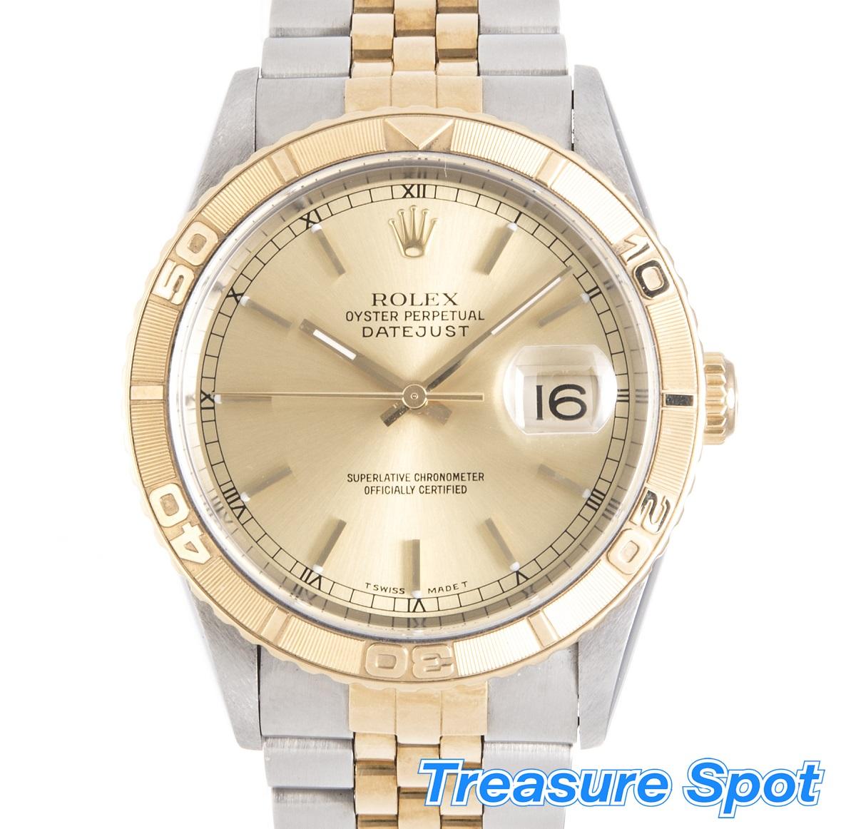 ROLEX ロレックス サンダーバード 16263 SS×YG ステンレス×イエローゴールド  自動巻き AT メンズ 1998年 メンズ 腕時計 送料無料 【トレジャースポット】【中古】