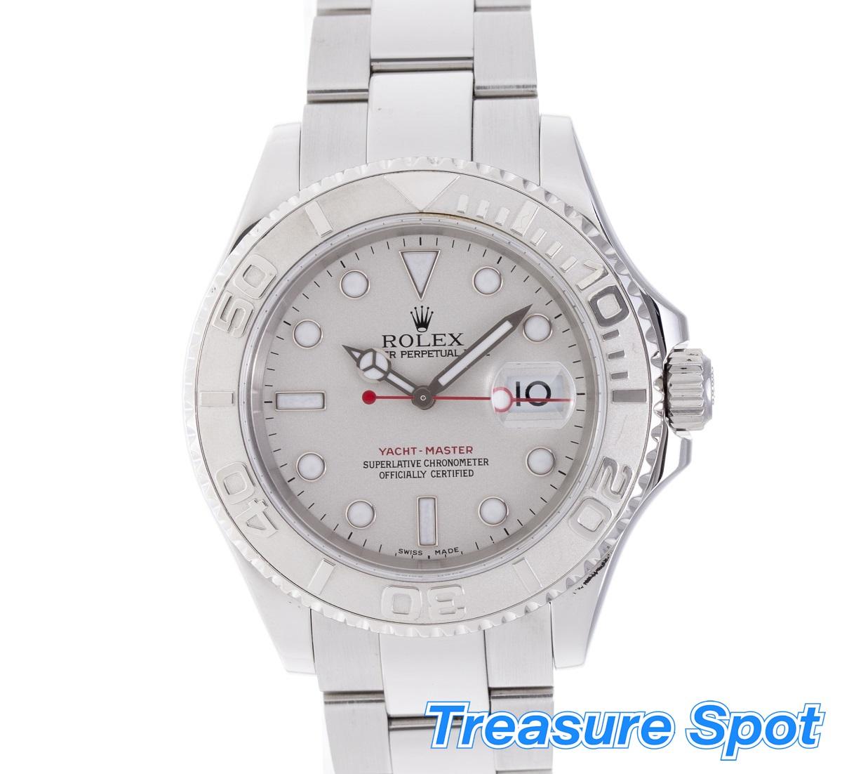 ロレックス ROLEX ヨットマスター 16622 2005年 SS/PT ステンレスxプラチナ メンズ 腕時計 送料無料 【トレジャースポット】 【中古】