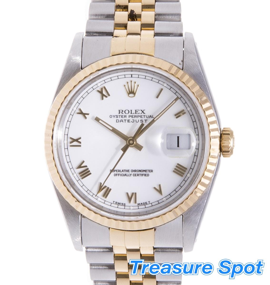 ROLEX ロレックス 16233 デイトジャスト SS/YG  メンズ 1991年 自動巻き AT メンズ 腕時計 送料無料【トレジャースポット】【中古】