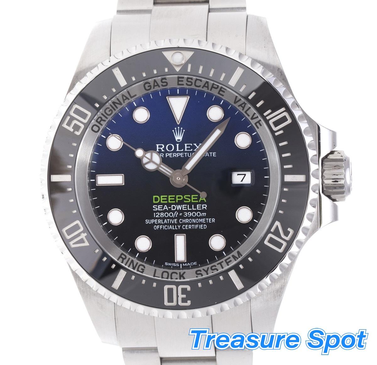 ROLEX ロレックス シードゥエラーディープシー Dブルー 116660 ランダム SS ステンレス 箱 メンズ 腕時計 送料無料 【トレジャースポット】【中古】