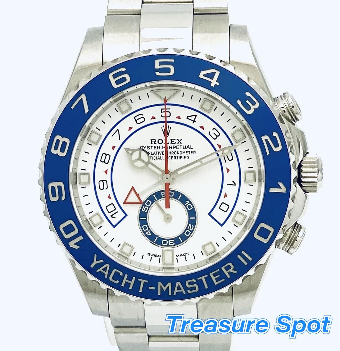 お歳暮 ROLEX ヨットマスターII 116680 SS ROLEX ステンレス AT 自動巻き  ランダム 箱 メンズ 腕時計 送料無料【トレジャースポット】【】, 和気町:45e1b087 --- agrohub.redlab.site