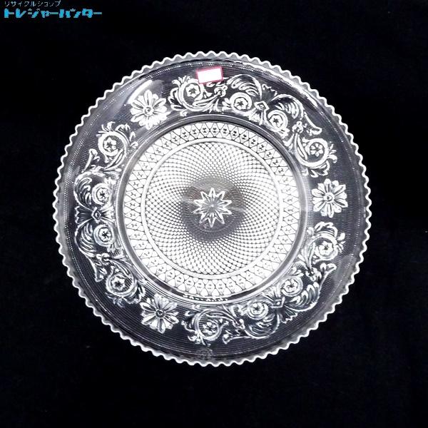 【中古】バカラ デザートプレート クリスタル アラベスク 唐草模様 L 20cm Baccarat 【072318】
