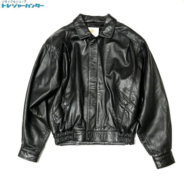 【中古】ゴールデンベア レザー スウィングジャケット ブラック 38 黒 USA製 メンズ アウター Golden bear 【022319】