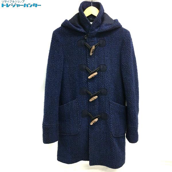 【中古】ブルーブルー メンズ ポップコーンラッセル ダッフルコート サイズ2 M 紺 ネイビー BLUE BLUE 【021519】