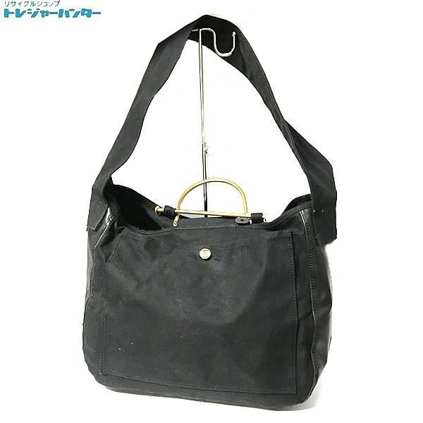 【中古】ロックステディ ポーター LIQUR & SHOLDER BAG キャンバス ショルダーバッグ ブラック 黒 メンズ カバン 鞄 RockSteady PORTER 【092519】