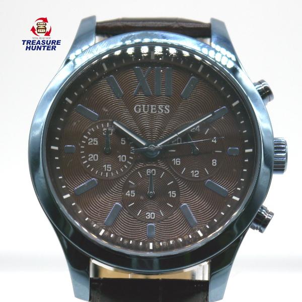 【中古】GUSEE ゲス 腕時計 メンズ W0789G2 カジュアル ブラウン ファッション ウォッチ 5気圧防水 クロノグラフ 【122319】