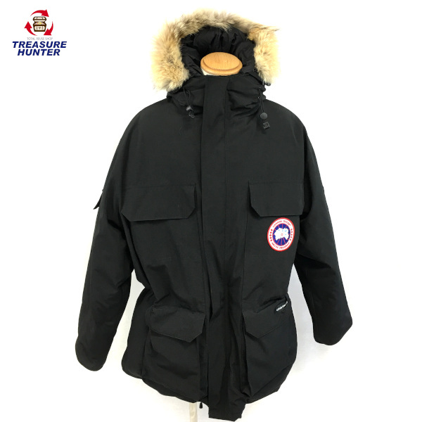 【中古】CANADA GOOSE カナダグース ダウンジャケット XL 4565 ブラック メンズアウター 【011720】