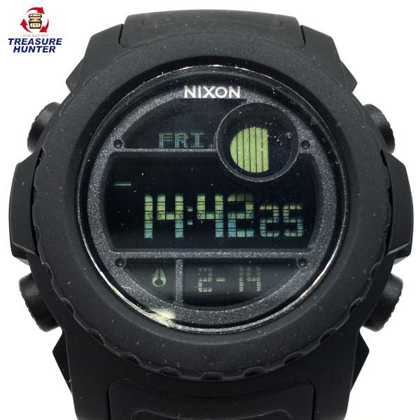 【中古】NIXON ニクソン 腕時計 スーパーユニット A921001 オールブラック メンズ 【021720】