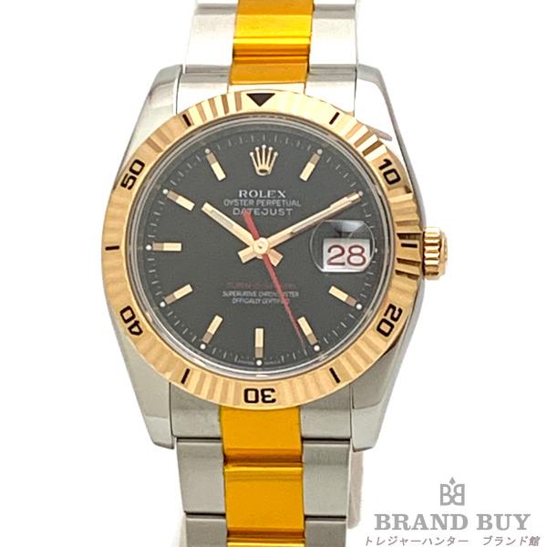 【中古】ROLEX ロレックス デイトジャスト ターノグラフ 116261 F番 オイスターブレス ブラック文字盤 メンズ 自動巻き 腕時計 OH/外装仕上げ済み 【051120】