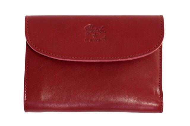 730f24973d06 イルビゾンテ 財布 IL 折り財布 C0972 P 245 Ruby red レッド 革 メンズ レディース BISONTE-レディース財布