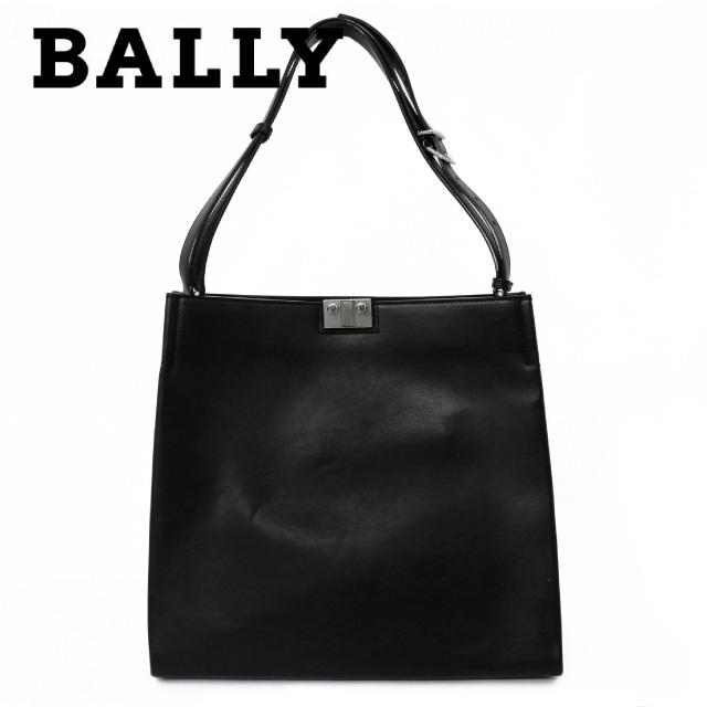 バリー バッグ BALLY ショルダーバッグ 6191558 LOCK-ON/00 ブラック Black CALF PLAIN メンズ レディース 革 カーフレザー