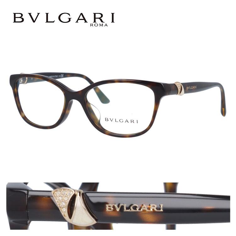 ブルガリ 眼鏡 ミラリジャパン正規商品 伊達メガネ対応 ディーヴァ BV4128BF 504 54 ダークハバナ アジアンフィット DIVA レディース 【ウェリントン型】