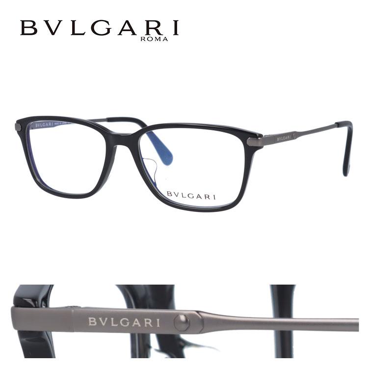 ブルガリ 伊達メガネ 眼鏡 アジアンフィット BVLGARI BV3030D 501 55サイズ 国内正規品 スクエア レディース